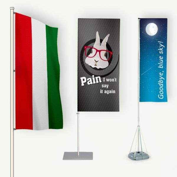alumínium zászlórúd